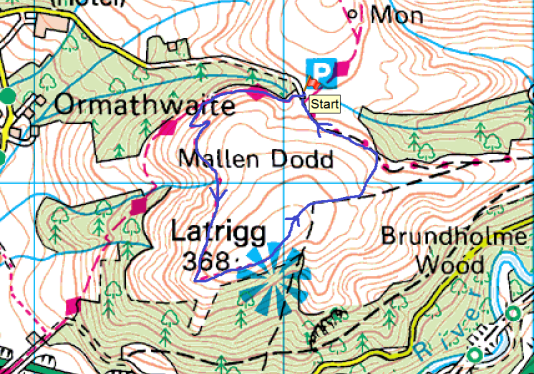 Latrigg map
