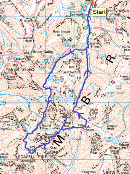 Scafell pike map