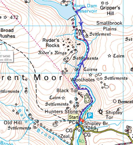 Avon Dam map