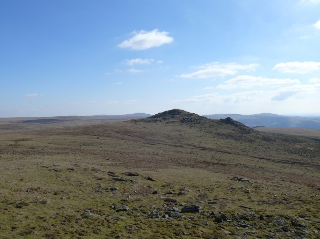 Hare Tor taken from Sharp Tor, Great Mis Tor in the distance just to the left