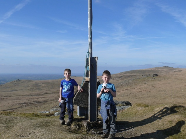 The boys on Hare Tor