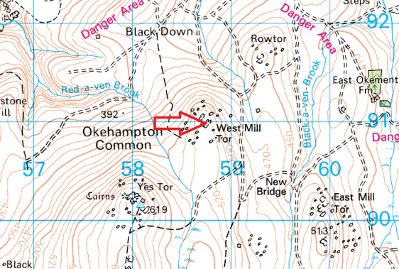 west-mill-tor-map