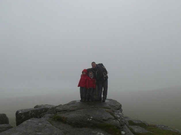 Me and the boys at the summit trig of Yes Tor