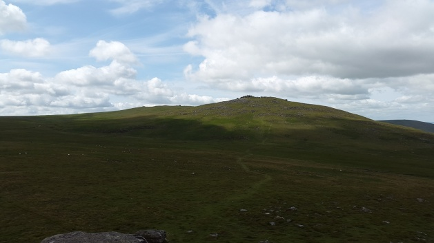 Yes Tor with High Willhays to the left from West Mill Tor