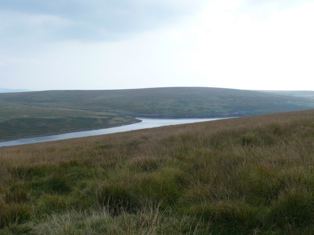 Avon Reservoir from the descent of Western White Barrow