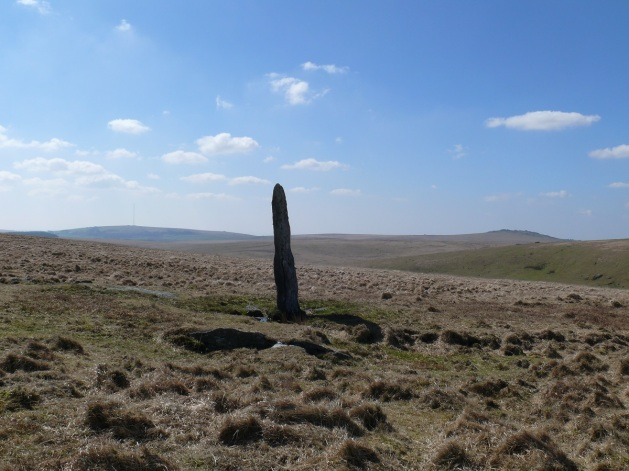 Beardown Man with Great Mis Tor to the right and North Hessary Tor to the left