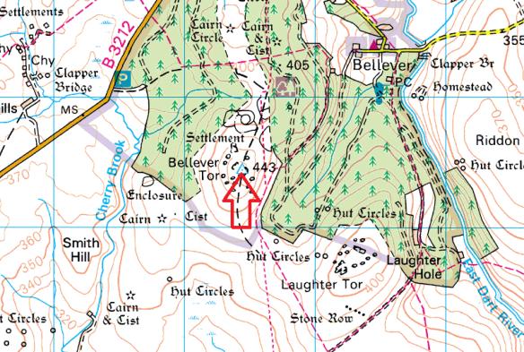 bellever-tor-map