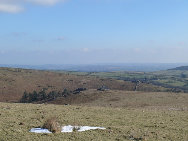 Black Tor from the decent from Eastern White Barrow.