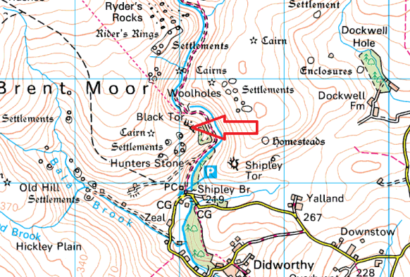 black-tor-shipley-map