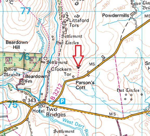 crockern-tor-map