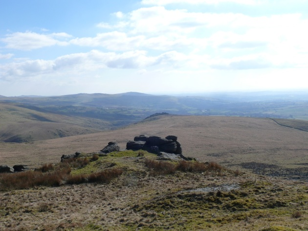 Looking down on Ger Tor from Hare Tor