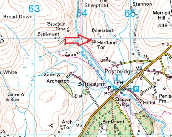 hartland-tor-map