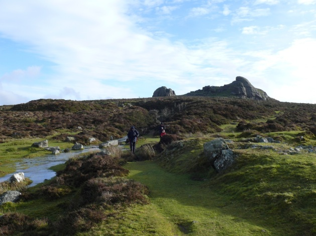 Looking back to Haytor from the path down to Holwell Tor