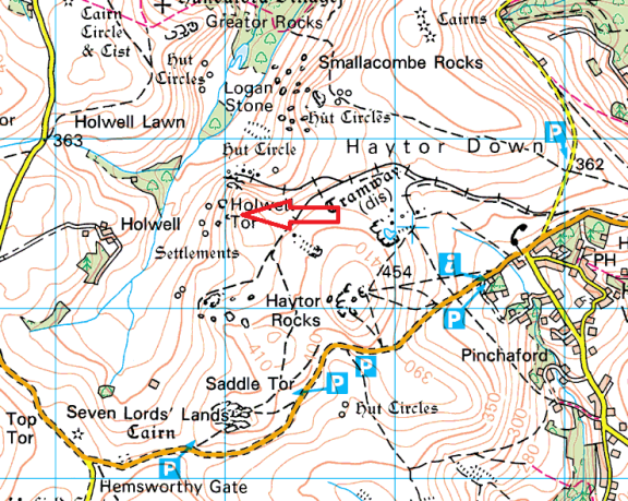 holwell-tor-map