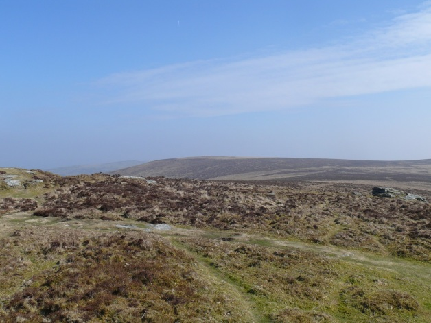 Distant King Tor from Hookney Tor
