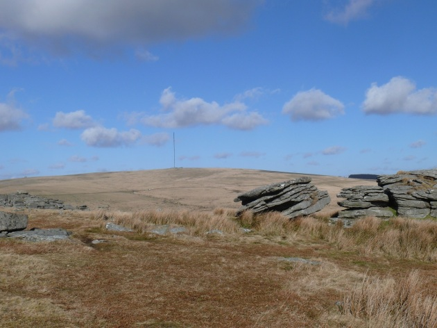 Looking to North Hessary Tor from Leeden Tor