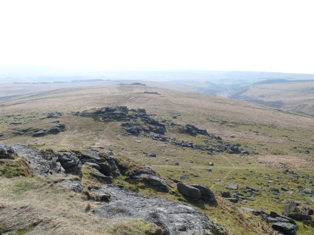 Looking back down the ridge to Crockern Tor