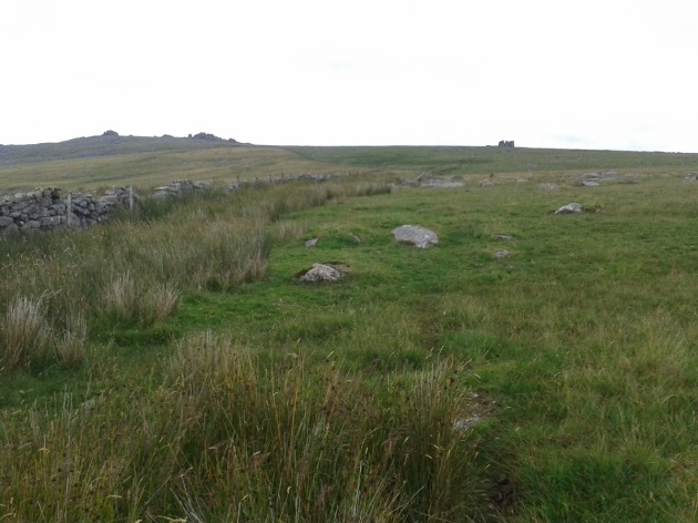 Looking back up at Great Mis Tor on the left and its Little cousin on the right