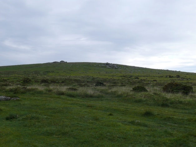 Looking up to Little Staple Tor to the right, with Middle Staple Tor left and behind
