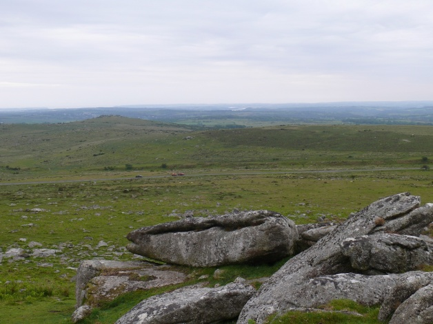 Looking to Pew Tor from Little Staple Tor