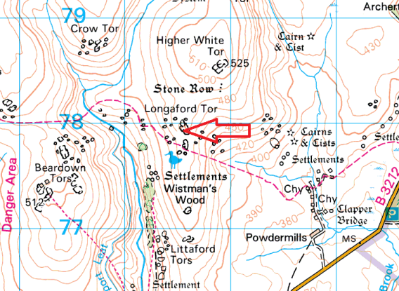longaford-tor-map