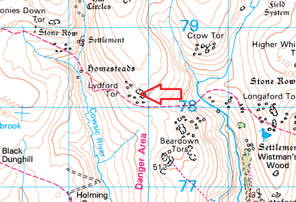 lydford-tor-map