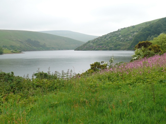 Meldon Reservoir with Black Tor the high point in the distance