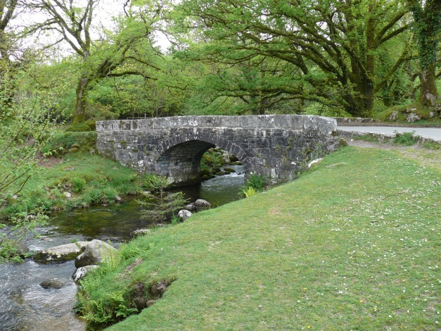 Norsworthy Bridge with the River Meavy below