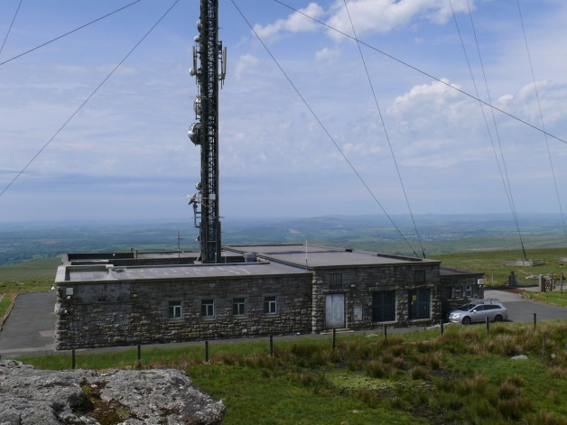The TV transmitter station, the mast stands at 196 metres high