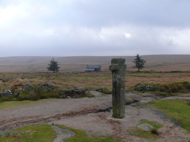 Nun's (Siwards) Cross and the farm behind