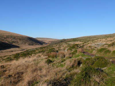 Looking back along the West dart Vally to Wistman's Wood