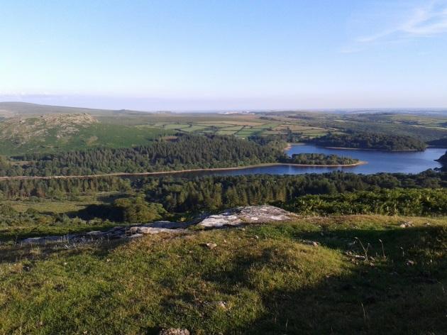 Burrator Reservoir from Peek Hill