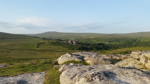 Looking down to Vixen Tor