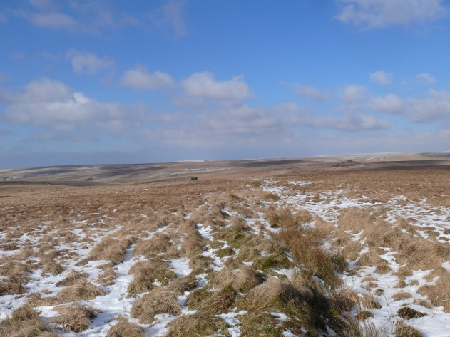 Redlake spoil heap on the right from Quickbeam Hill