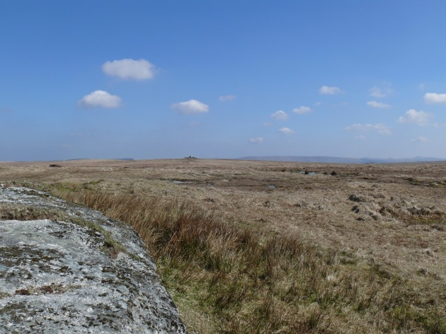 Looking to Rough Tor from Devil's Tor