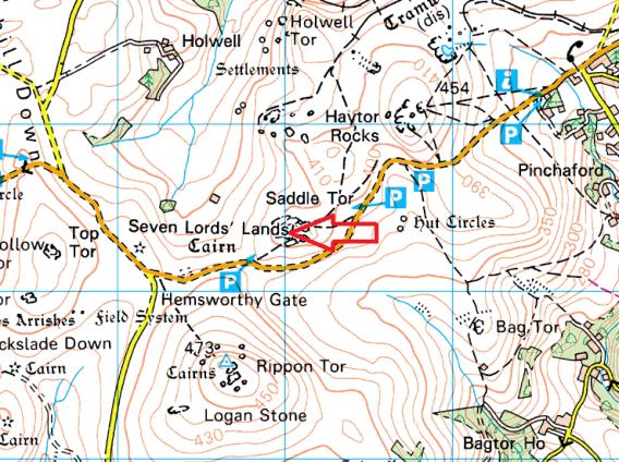 saddle-tor-map