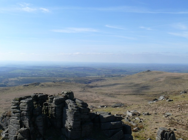 From the summit of Sharp Tor looking over to Cornwall