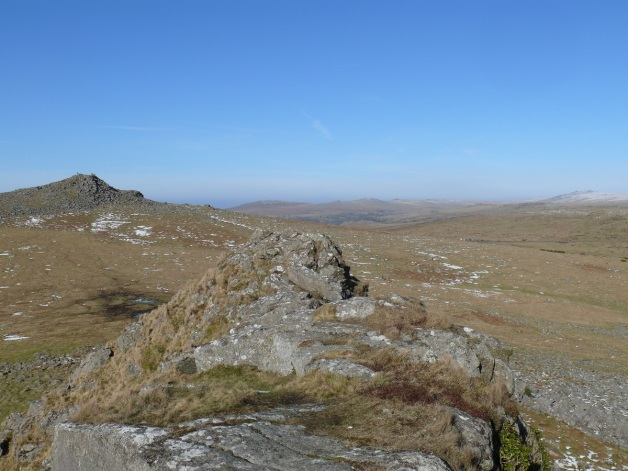 Looking back to Sharpitor from Leather Tor