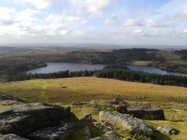 Burrator Reservoir from Sheeps Tor