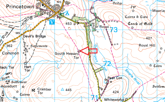 south-hessary-tor-map
