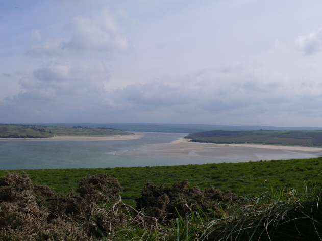 From the Coastguard station at the tip of Padstow Bay looking back in the direction of Padstow