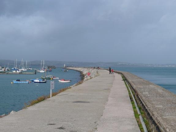 Brixham harbour and pier
