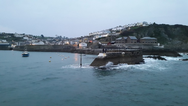 Mevagissey Harbour as evening draws in
