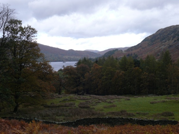 First view to Ullswater from the wall beside Glenamara Park