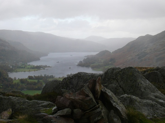 The rain ceases so I grab a quick shot from Arnison Crag summit