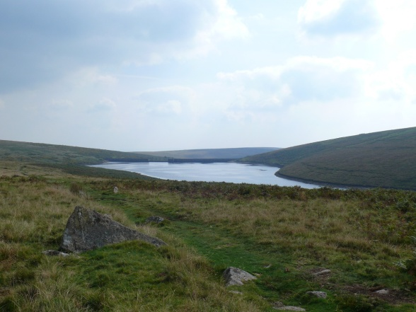 Looking towards the dam over Avon Reservoir