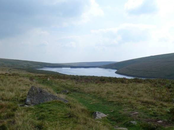Looking towards the dam over Avon Reservoir