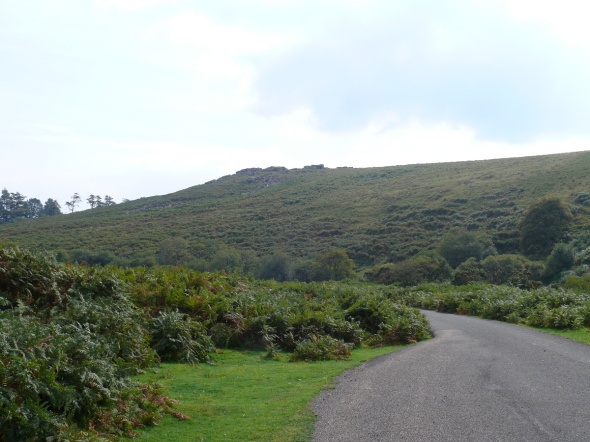 Black Tor above the road back to Shipley Bridge