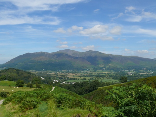 Just out of Braithwaite and the views open up to Skiddaw