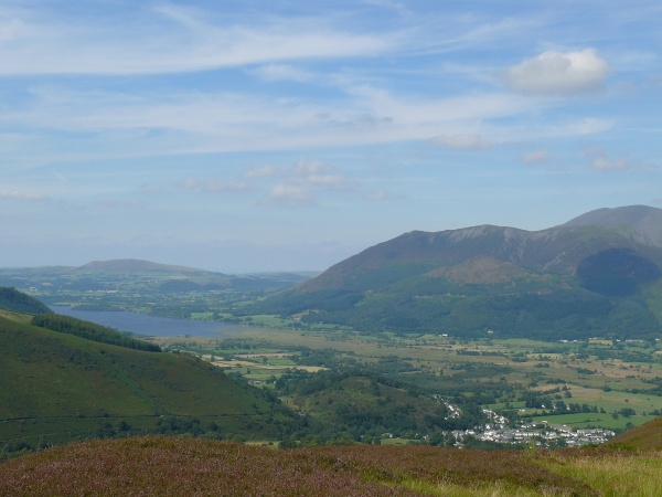 Looking to Lake Bassenthwaite and the Ullock Pike ridge on the right